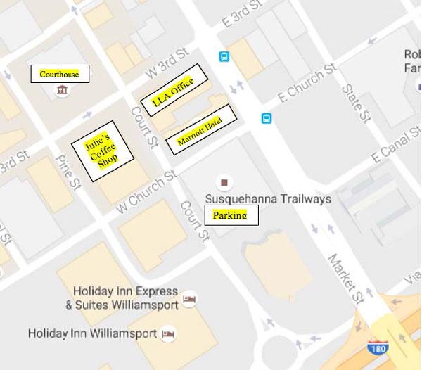 LLA location map