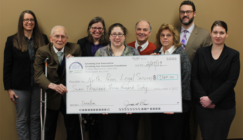 LLA Foundation donation to Legal Services