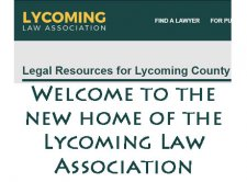 Lycoming Law Association Launches New Website