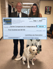 LLA Presents Funds to Canine Companions for Independence